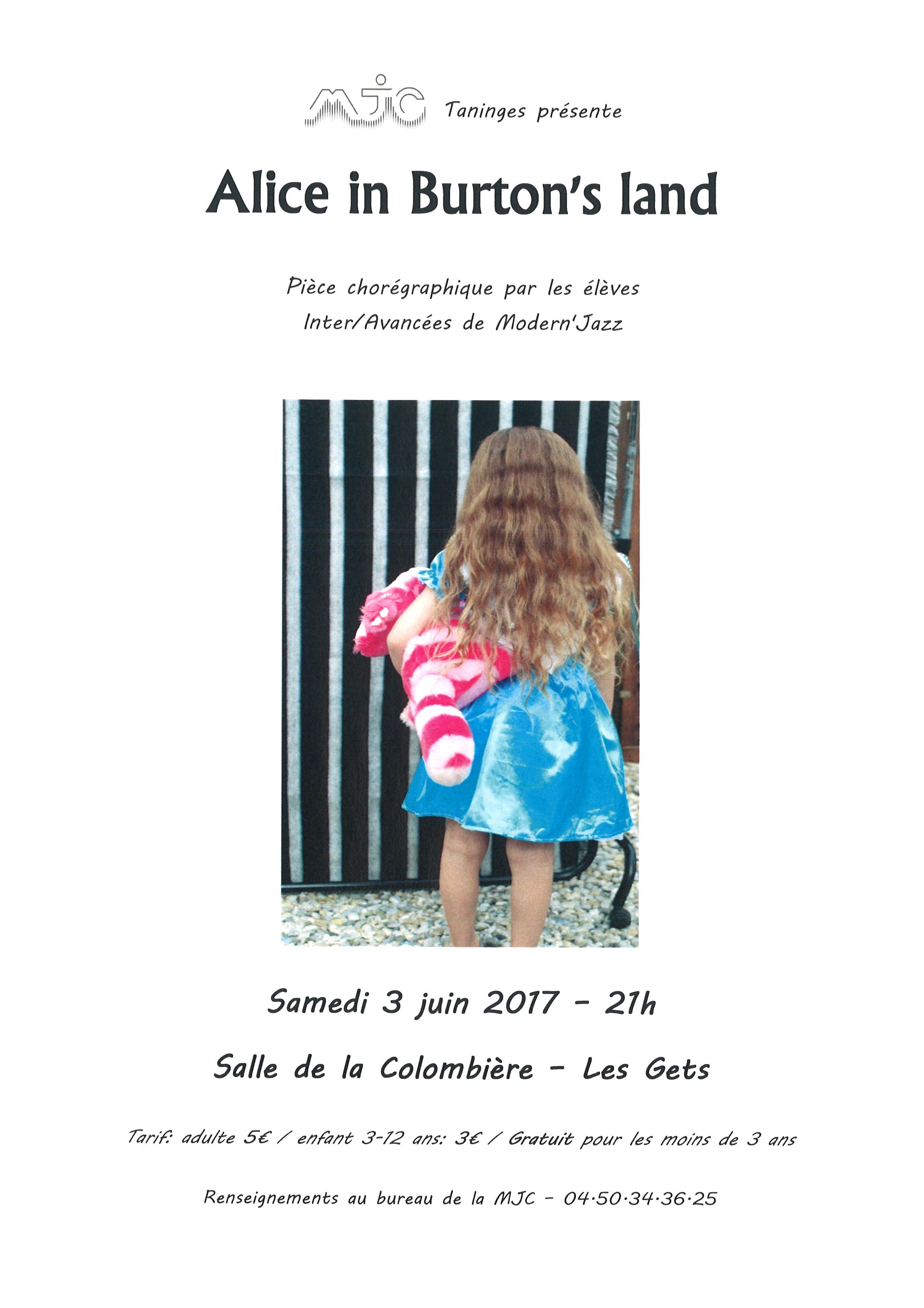 affiche gala - Alice in Burton's land